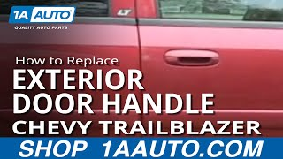 How To Install Replace Broken Outside Door Handle Chevy