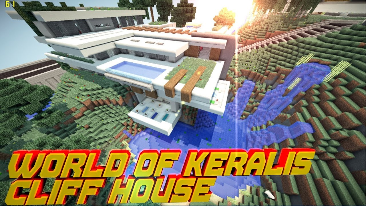 Minecraft pe modern cliff house world of keralis for Keralis modern house 9 part 1