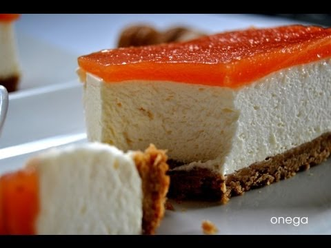 Receta de Pastel con queso con membrillo y guayaba / Cheese cake with quince and guava