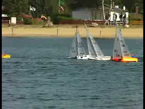 IOM+RC+Sailboats RC Sailboat Race - IOM one metre class - YouTube