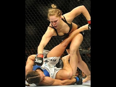 RONDA ROUSEY vs SARA MCMANN UFC 170 fight