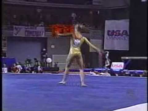 katie heenan 2001 us nationals finals floor exercise