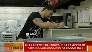 Billy Crawford, ibiniyahe sa Camp Crame para isailalim sa drug at liquor test