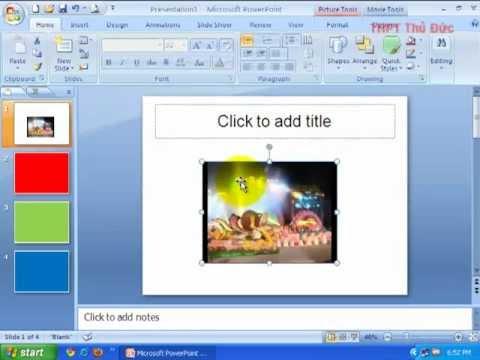 Chèn phim vào slide trong Powerpoint 2007