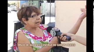 Rua de tr�nsito intenso � palco de v�rios acidentes no Bairro Carlos Prates