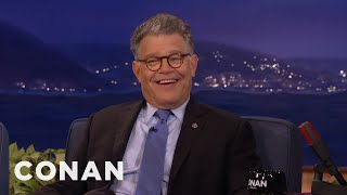 Senator Al Franken: Hillary Has A Goofy Sense Of Humor  - CONAN on TBS