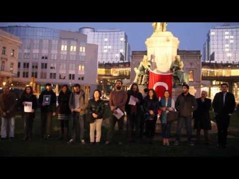 Occupy Gezi Brussels ile Berkin Elvan için Brüksel'de toplandık...