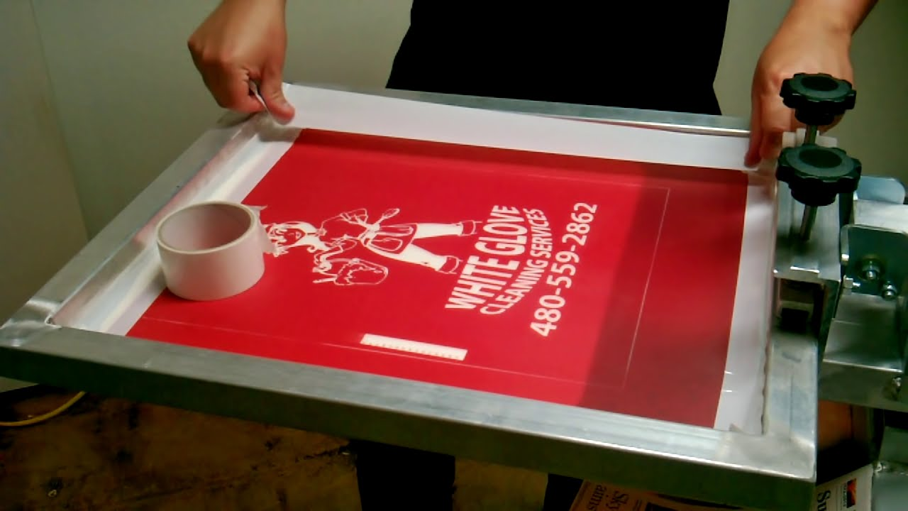 Screen Printing Process From Start To Finish Thanks To