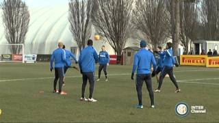 ALLENAMENTO INTER REAL AUDIO 08 01 2016