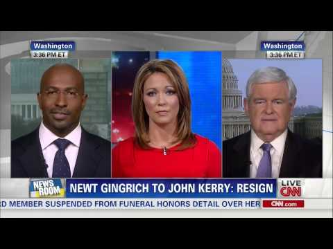 CNN Newsroom: Van Jones and Newt Gingrich spar on John Kerry and climate change