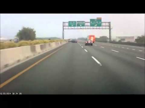 20140316  國道1號彰化方向車禍.遇酒駕欄…