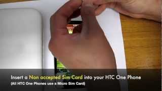 How To Unlock HTC One (S, V, X, X+, XL) Network By Unlock