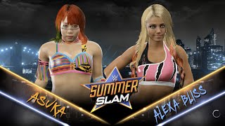 WWE 2K17 - Asuka vs Alexa Bliss Full Match (1080 60fps)