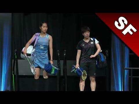 Yonex All England Open 2017 | Badminton SF | Akane Yamaguchi vs Ratchanok Intanon [HD]