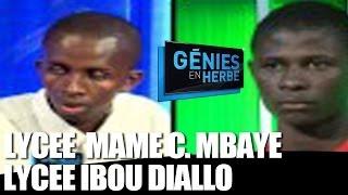 Genies en Herbe : Lycée Mame Cheikh Mbaye de Tamba VS Lycée Ibou Diallo de Sedhiou