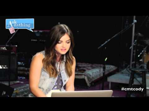 Lucy Hale CMT Cody Alan Ask Anything Chat 05/31/14 @askanythingchat