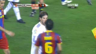 Sergio Ramos Punches Puyol And Xavi (11-29-10) HD