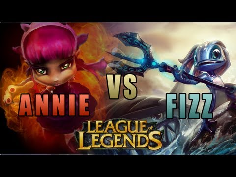 League of Legends - 1v1 Mid SONG - Annie vs Fizz [Epic Rap Battles of History Parody]