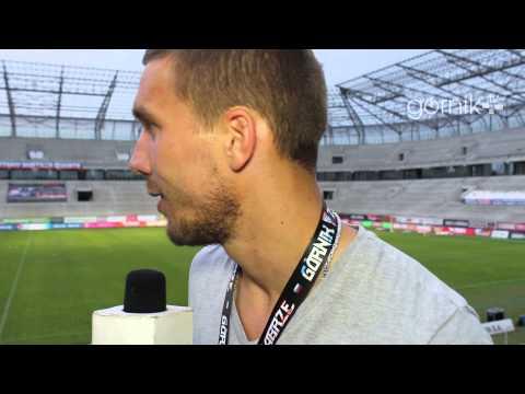 Lukas Podolski na meczu Górnika Zabrze!