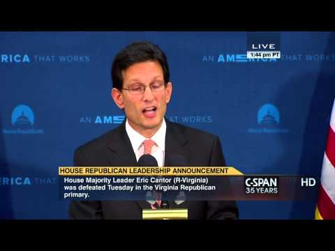 Majority Leader Eric Cantor Statement (C-SPAN)