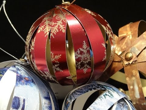 Recycled Christmas Card Ornaments- Újrahasznosított karácsonyi díszek