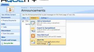 Setup e-mail alert notifications in SharePoint 2007 view on youtube.com tube online.