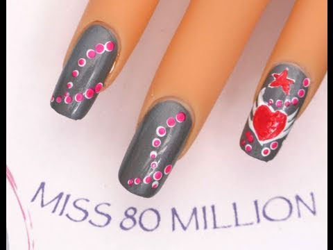 Valentines Wings - nail art tutorial