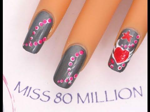 Valentines Wings - nail art tutorial