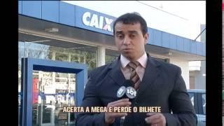 Apostar diz ter acertado n�meros da Mega-Sena e perdido o bilhete