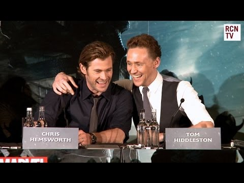 Tom Hiddleston & Chris Hemsworth Interview Thor The Dark World Premiere