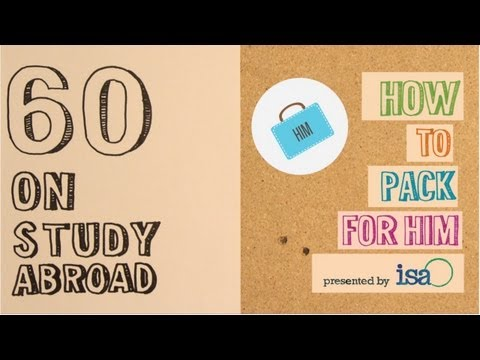 """:60 on Study Abroad"" is an original, in-house web series that features ISA staff members detailing quick tips on study"