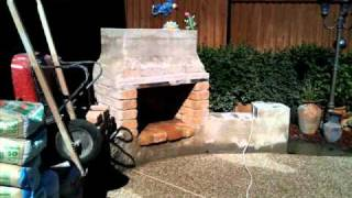 OUTDOOR STONE FIREPLACE HOMEMADE PROJECT FINAL
