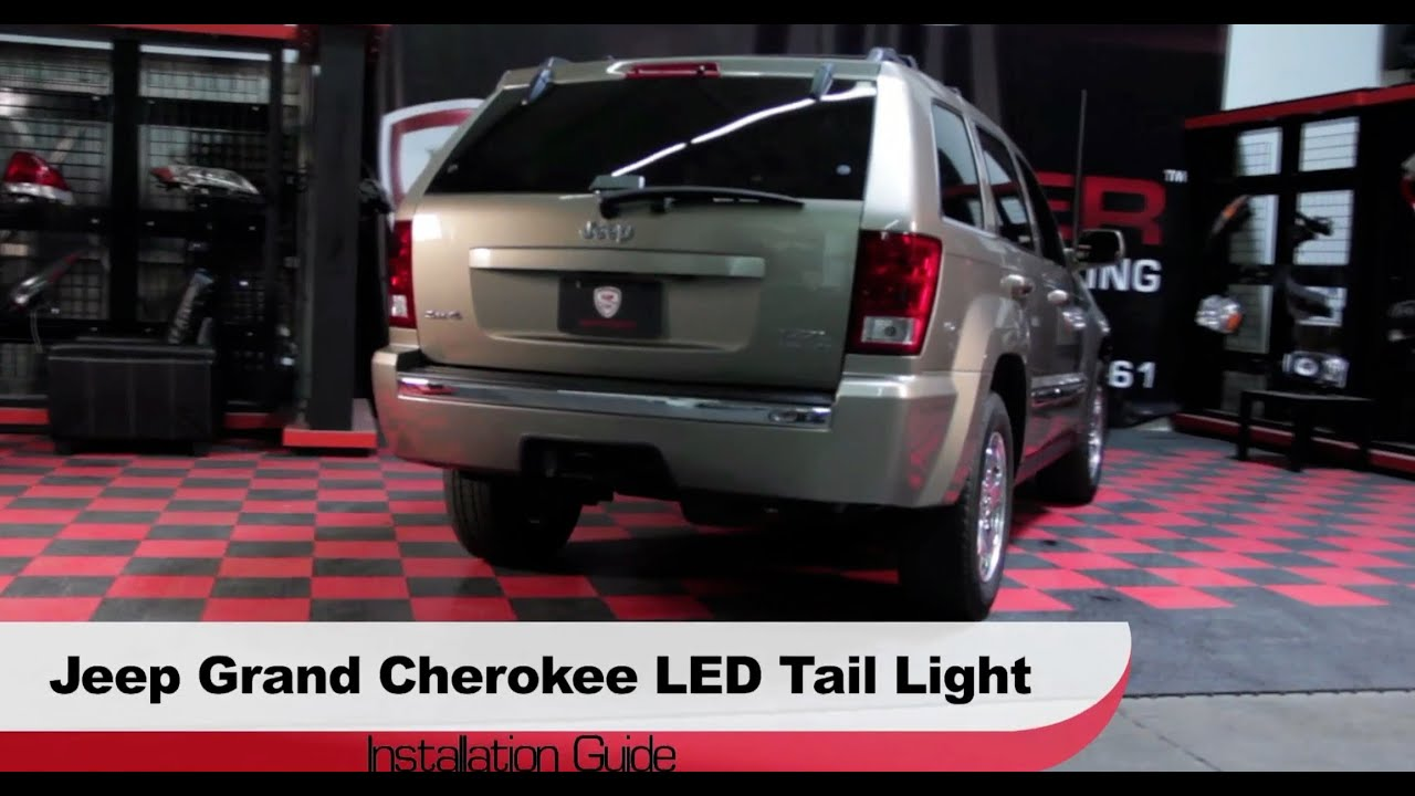 installation 2005 06 jeep grand cherokee led tail lights youtube. Black Bedroom Furniture Sets. Home Design Ideas