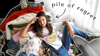 *ruthless* closet clean out (i was not messing around)