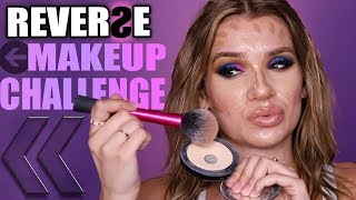 FULL FACE OF MAKEUP IN REVERSE! powder first omg