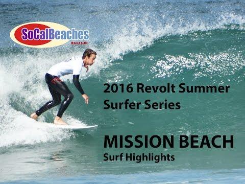 2016 Revolt Magazine RSSS Surfing Series Mission Beach Highlights