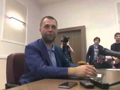 Александр Бородай, брифинг по сбитому Боингу 19.07.14 (видео+)