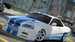 GRAND THEFT AUTO IV NISSAN SKYLINE R34 CRASH TESTING HD