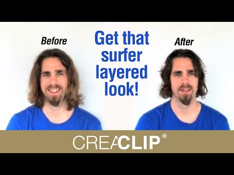Hairstyle Youtube Boy : ... Mens Layer haircut long hair- Get that surfer layered look! - YouTube