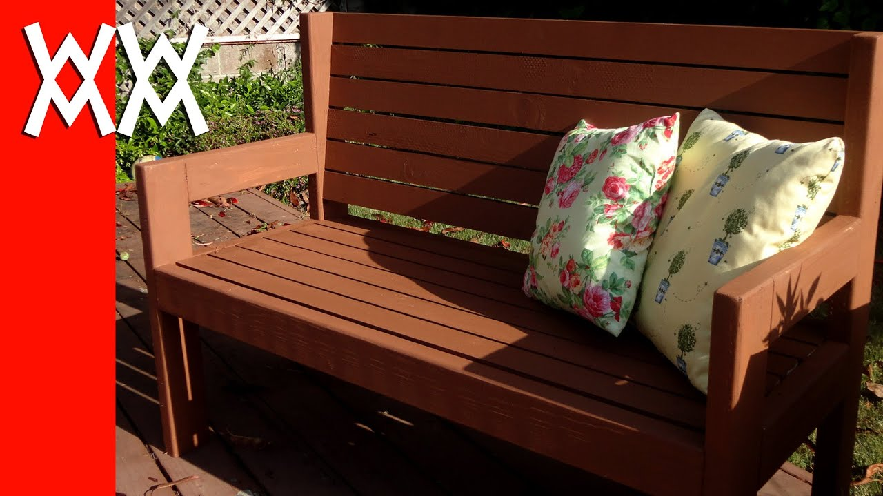 Build a simple garden bench. Easy woodworking project ...