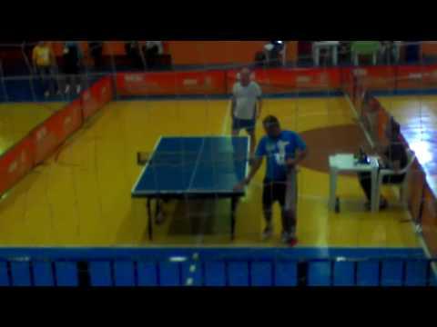 JST 2016 - Resende tênis de mesa Luciano(AZUL)XMarchiori 5o SET 9 x 11 parte 1