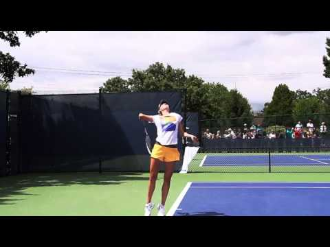 Sharapova 1st serve Super slow motion