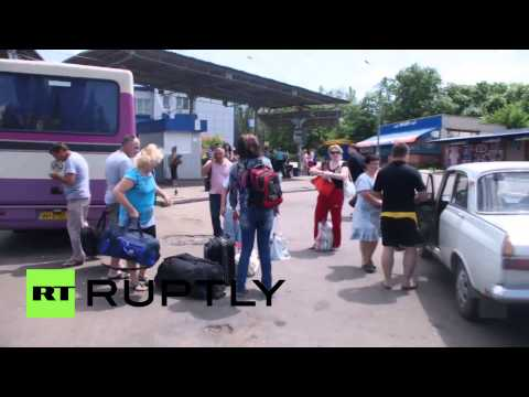 Ukraine: People flee Kramatorsk after DPR Slavyansk withdrawal