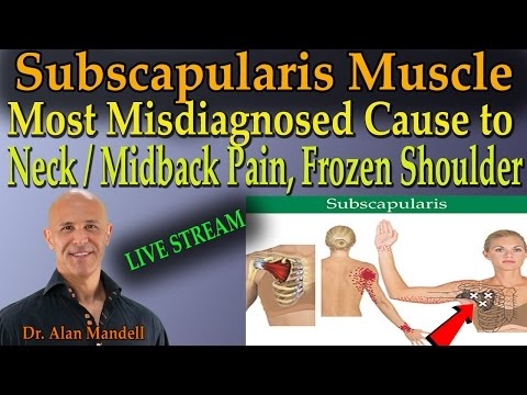 Subscapularis Muscle - Most Misdiagnosed Cause to Neck/Midback Pain & Frozen Shoulder (Dr Mandell)