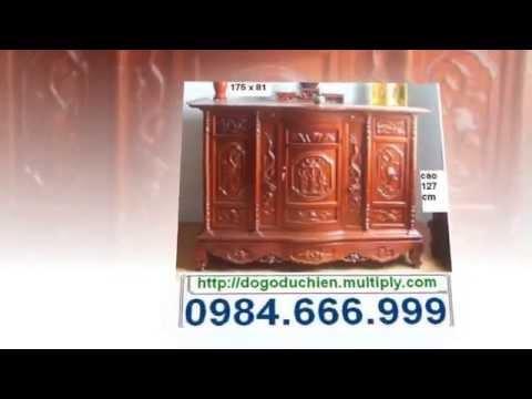 Bàn, tủ thờ gỗ gụ, hương, mun sọc Đồ gỗ Đức Hiền 2013 ( phần 1 )