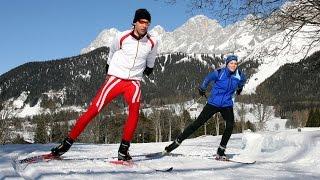Обучение коньковому ходу на лыжах