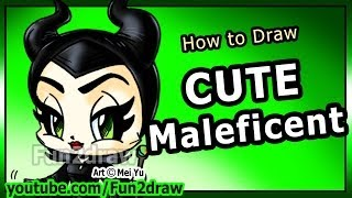 How To Draw Disney Characters Maleficent Angelina Jolie