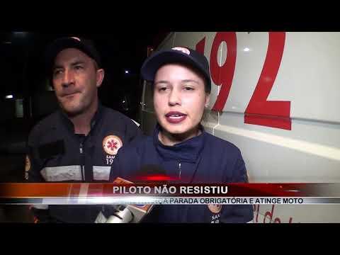 12/04/2019 - Motociclista morre na Santa Casa após acidente grave pela Avenida dos Coqueiros em Barretos