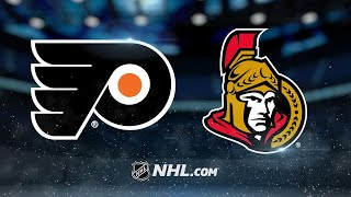 Three-goal 3rd lifts Flyers past Senators, 5-3