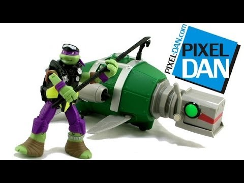 Nickelodeon Teenage Mutant Ninja Turtles Turtle Sub Vehicle with Diver Donnie Figure Video Review